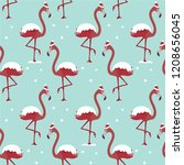 christmas seamless pattern with ... | Shutterstock .eps vector #1208656045