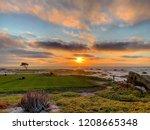 Sunset At Pebble Beach Golf...