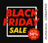 black friday mega sale concept... | Shutterstock .eps vector #1208669935
