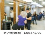 beauty salon and stylists in a... | Shutterstock . vector #1208671702