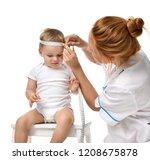doctors pediatrician measure... | Shutterstock . vector #1208675878