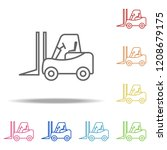 forklift icon. elements of... | Shutterstock .eps vector #1208679175