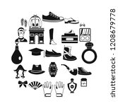 vogue icons set. simple set of... | Shutterstock .eps vector #1208679778