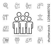 employees icon. business... | Shutterstock .eps vector #1208680702