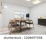 3d rendering modern clean home... | Shutterstock . vector #1208697358