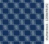 square motif sashiko...   Shutterstock .eps vector #1208698192