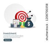 return on investment roi... | Shutterstock .eps vector #1208700358