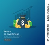 return on investment roi... | Shutterstock .eps vector #1208700382
