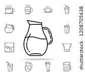 carafe of water dusk icon.... | Shutterstock . vector #1208705638