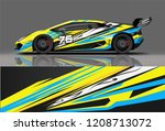 sport racing car wrap decal and ... | Shutterstock .eps vector #1208713072