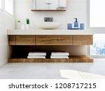 3d rendering  the sink in the...   Shutterstock . vector #1208717215