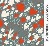 christmas seamless pattern with ... | Shutterstock .eps vector #120872902