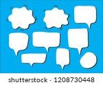 vector bubbles speech set. hand ...   Shutterstock .eps vector #1208730448