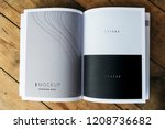 wave texture magazine page... | Shutterstock . vector #1208736682