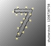 number from the christmas light ... | Shutterstock .eps vector #1208738758