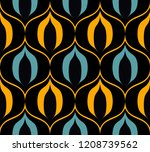 seamless retro pattern in the... | Shutterstock .eps vector #1208739562