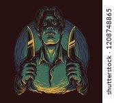 serial killer illustration | Shutterstock .eps vector #1208748865