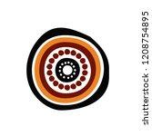 Aboriginal art design logo icon
