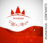 merry christmas greeting card...   Shutterstock .eps vector #1208764072