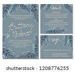 vintage wedding invitation card ... | Shutterstock .eps vector #1208776255