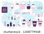 zero waste lifesyle hand drawn... | Shutterstock .eps vector #1208779438