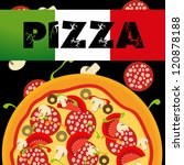 pizza menu template. raster... | Shutterstock . vector #120878188