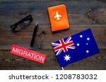 immigration to australia... | Shutterstock . vector #1208783032