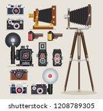 Antique Camera Flat Icons....