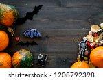 halloween concept  halloween...   Shutterstock . vector #1208792398