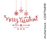 christmas greeting card. merry...   Shutterstock .eps vector #1208796898