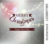 beautiful winter greeting... | Shutterstock .eps vector #1208807485