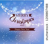 beautiful winter greeting... | Shutterstock .eps vector #1208807488