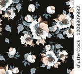 seamless pattern with a bouquet ... | Shutterstock .eps vector #1208809882