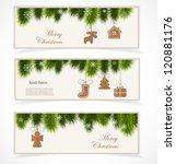 merry christmas banner | Shutterstock .eps vector #120881176