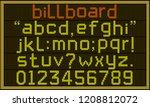 billboard font   retro lcd... | Shutterstock .eps vector #1208812072