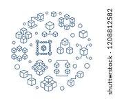 blockchain circular vector...   Shutterstock .eps vector #1208812582