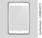 new realistic white tablet pc... | Shutterstock .eps vector #1208813572