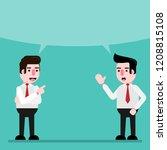 businessman talk exchange ideas ... | Shutterstock .eps vector #1208815108