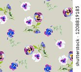 Wild Pansy Watercolor...
