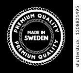 made in sweden badge. vintage... | Shutterstock .eps vector #1208821495