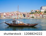 typical portuguese boats used... | Shutterstock . vector #1208824222