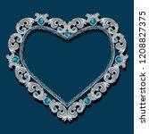 frame in the shape of heart... | Shutterstock .eps vector #1208827375