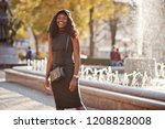 stylish african american girl... | Shutterstock . vector #1208828008