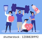healthy people carrying... | Shutterstock .eps vector #1208828992
