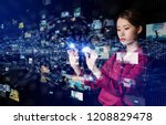 virtual reality concept. | Shutterstock . vector #1208829478