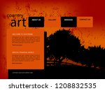 design website template | Shutterstock . vector #1208832535