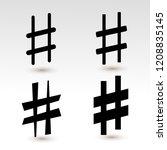 set of music sharp black icon... | Shutterstock .eps vector #1208835145
