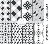 set of seamless patterns.... | Shutterstock .eps vector #1208838655