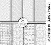 set of vector seamless patterns.... | Shutterstock .eps vector #1208840218