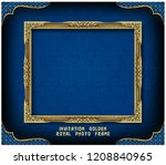 decorative vintage frame and... | Shutterstock .eps vector #1208840965